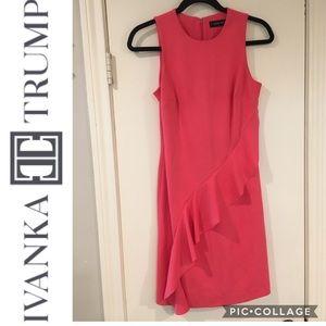 Ivanka Trump - Coral Ruffle Dress - Size 2